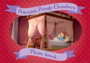 Disney Sofia Please Knock Poster